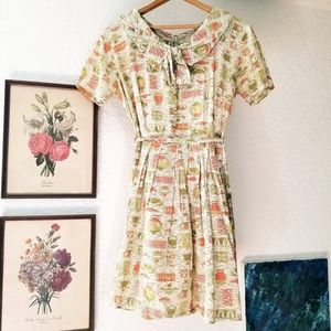 Vintage art deco sailor collar dress